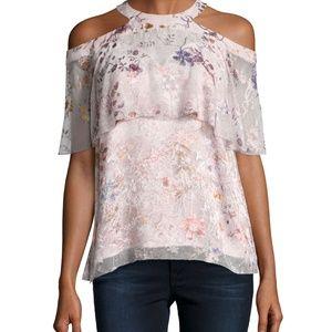 Elie Tahari Genevieve Embellished Silk Blouse, S